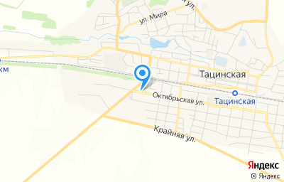 Местоположение на карте пункта техосмотра по адресу Ростовская обл, ст-ца Тацинская, ул Октябрьская, д 156