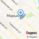 Марьинское на карте Армавира