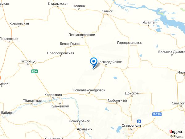 поселок Штурм на карте