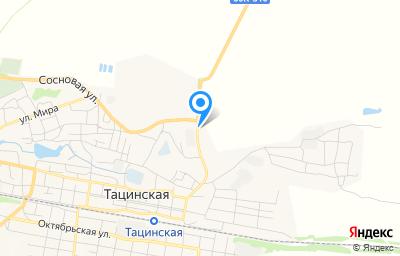 Местоположение на карте пункта техосмотра по адресу Ростовская обл, ст-ца Тацинская, ул Сосновая, д 46А