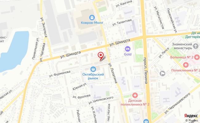 Карта расположения пункта доставки Билайн в городе Ковров