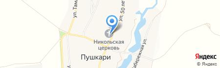 Никольская церковь на карте Стрельцов