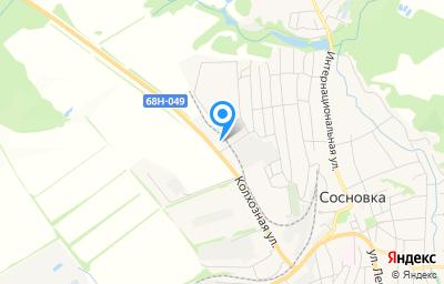 Местоположение на карте пункта техосмотра по адресу Тамбовская обл, рп Сосновка, ул Колхозная, д 20