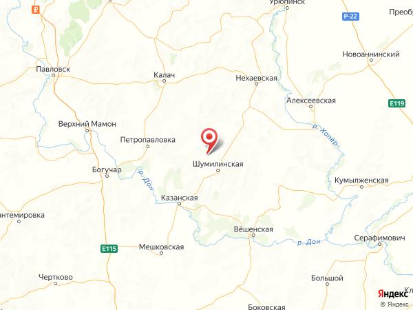 хутор Каменный на карте