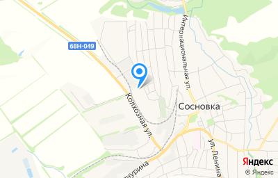 Местоположение на карте пункта техосмотра по адресу Тамбовская обл, рп Сосновка, ул Пушкина, д 83