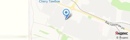 Промизделия на карте Тамбова