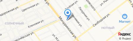 Радужный на карте Тамбова