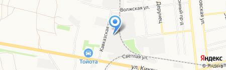 Грузовая автомойка на ул. Киквидзе на карте Тамбова
