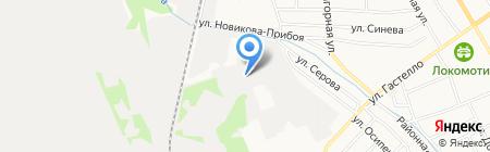 Автомойка на ул. Гастелло на карте Тамбова