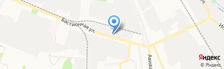 Автомойка на Бастионной на карте Тамбова