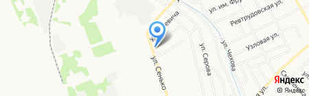 Зоомагазин на ул. Сенько на карте Тамбова