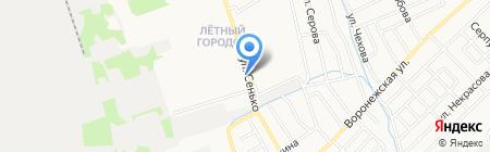 Лётка на карте Тамбова