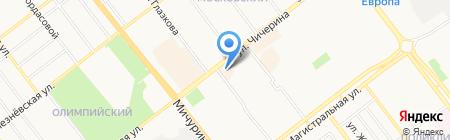 Автошина на карте Тамбова