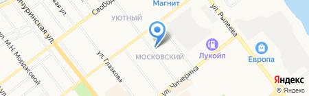 Новосёл на карте Тамбова