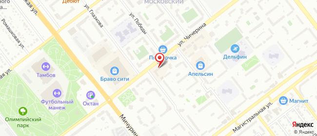 Карта расположения пункта доставки Тамбов Чичерина в городе Тамбов