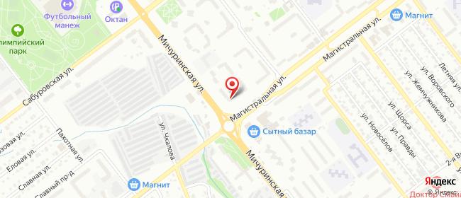 Карта расположения пункта доставки Тамбов Магистральная в городе Тамбов