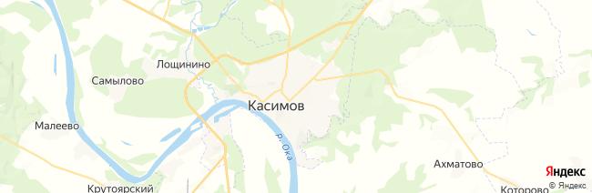 Касимов на карте