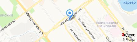 Участковый пункт полиции Ленинского района на карте Тамбова