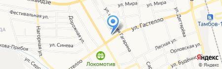 Шиномонтажная мастерская на Полынковской на карте Тамбова