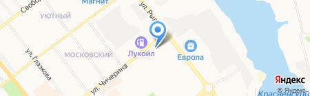 Рябинка на карте Тамбова