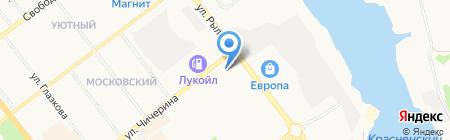 Золотые ножницы на карте Тамбова