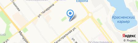 Крепыш на карте Тамбова