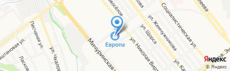 Бархат на карте Тамбова