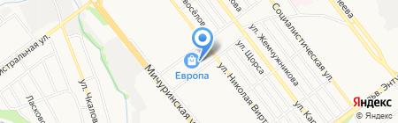 Неон на карте Тамбова