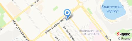Север-Юг на карте Тамбова