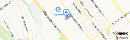 Детский сад №57 Катюша на карте Тамбова