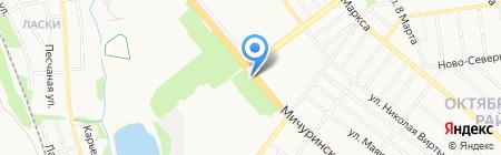 Полёт на карте Тамбова