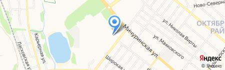 Автомойка на Мичуринской на карте Тамбова
