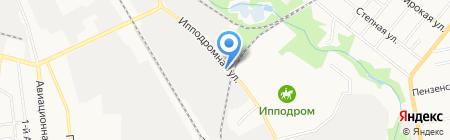 Шиномонтажная мастерская на Ипподромной на карте Тамбова