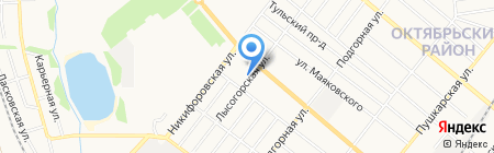 Автостоянка на Мичуринской на карте Тамбова