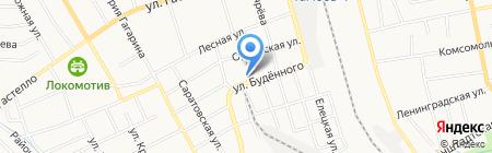 Шиномонтажная мастерская на ул. Будённого на карте Тамбова