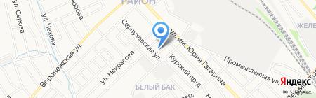 Детский сад №33 Клубничка на карте Тамбова
