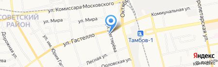 Аллюр на карте Тамбова