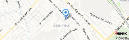 Автомойка на Рубежном проезде на карте Тамбова