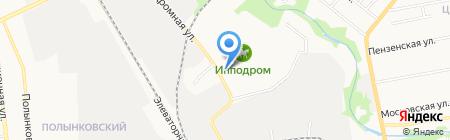 Тамбовская с ипподромом на карте Тамбова