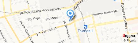 Мастерская по реставрации подушек на ул. Гастелло на карте Тамбова