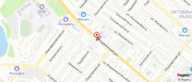 Карта расположения пункта доставки 24 Школа в городе Тамбов