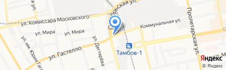 Попутчик на карте Тамбова