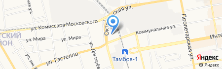 Магазин автозапчастей для иномарок на карте Тамбова