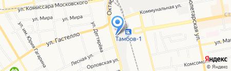 Шиномонтажная мастерская на Елецкой на карте Тамбова