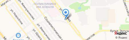 Магазин женской одежды на ул. Рылеева на карте Тамбова