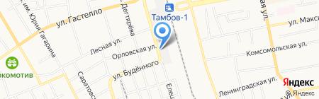 Автосервис на Елецкой на карте Тамбова