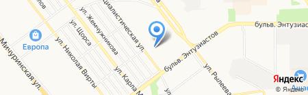 Детский сад №52 Маячок на карте Тамбова