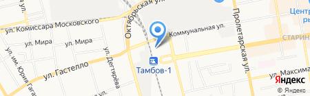 Линейный ОВД на ст. Тамбов-1 на карте Тамбова