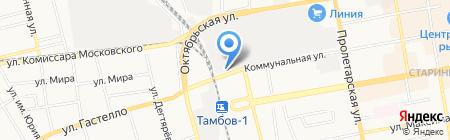 Автомойка на Коммунальной на карте Тамбова