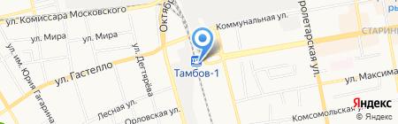 Железнодорожный вокзал г. Тамбова на карте Тамбова